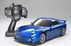 Auto modelis 1:10 treka Mazda RX-7, elektriskais, RTR, 4WD, TT-01