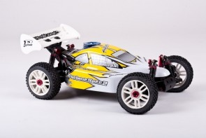Auto modelis, 1:8 bagijs Pilotage Cyclone 28, ar iekšdedzes dzinēju .21, RTR, 4WD