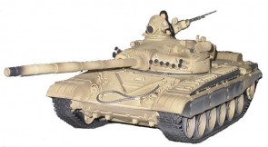 """Radiovadāms tanks T72 M1"""" tuksnešu,1:24, ar pneimatisko lielgab"""