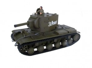 Tanks 1/24 SOVIET RED ARMY KV-2 Zaļš, pneimatiskais