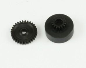 Metāla zobratu komplekts30T & 15T, 1/16 Mini Cyclone & Mini Truggy GP