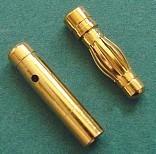 Izjaucams savienojums 4 mm zelta (3 pāri)